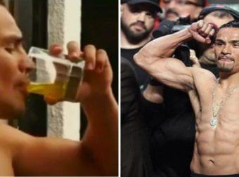 Πυγμάχος πίνει τα ούρα του πριν από αγώνες γιατί του δίνει καλά αποτελέσματα