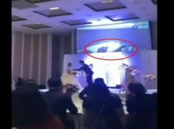 Γαμπρός τίναξε τον γάμο στον αέρα! Το απαγορευμένο βίντεο της νύφης που έπαιξε στα video wall (Video)